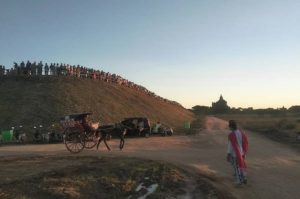 Manmade mountain to enjoy Sunset in Bagan
