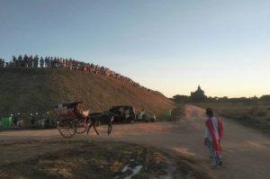 Manmade mountain to enjoy Sunset in Bagan