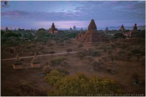 Sunset view from Shwe Gu Gyi Temple