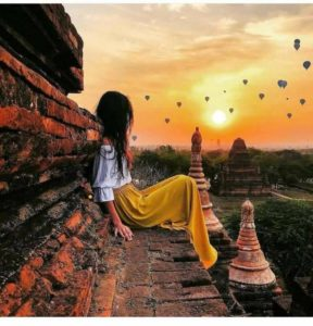 Instagram photo with hot air ballon